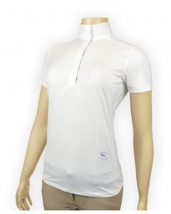 Essex Ladies Short Sleeve Talent Yarn Show Shirt with Wrap Collar