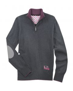 Essex Quarter Zip Sweater with Elbow Patch